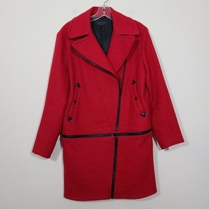 Rag & Bone Rally Zip Off Coat Red  Size S